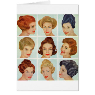 1960s hairstyles grid card