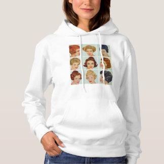 1960s hairstyles grid hoodie