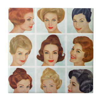 1960s hairstyles grid tile