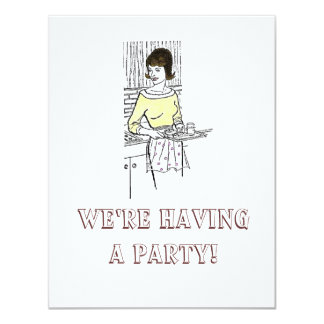 1960s Housewife - Invitation, We're H... 4.25x5.5 Paper Invitation Card