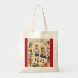 1960's Kids Shopping Tote Bag