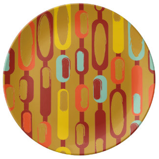 1960s Kooky Abstract Oblong Object Dinner Plate