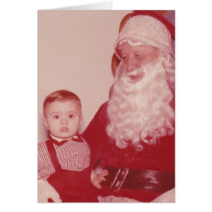 1960's Little Boy and Santa Card