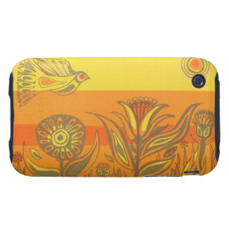1960's Mid-century Textile iPhone 3 Tough Case