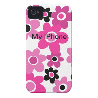1960s MOD Flower Child iPhone 4 Case-Mate Case