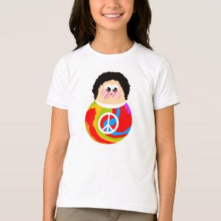 1960's Peace Sign Cartoon Character Kid T-Shirt