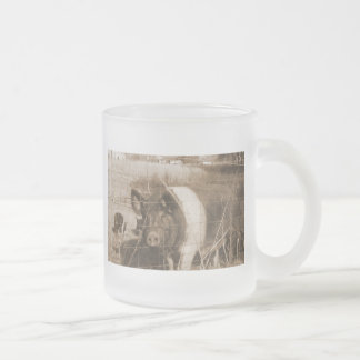 1960s Pig Frosted Glass Coffee Mug