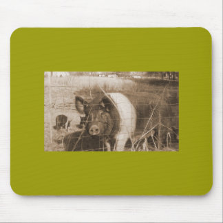1960s Pig Mouse Pad