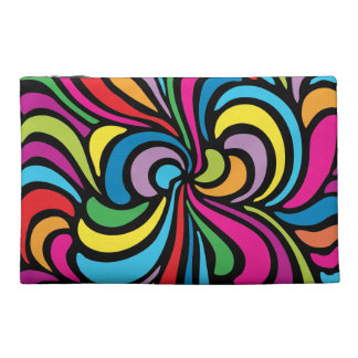 1960s Psychedelic Abstract Swirl Pattern Travel Accessories Bags