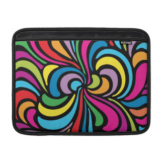 1960s Psychedelic Abstract Swirl Pattern MacBook Sleeve