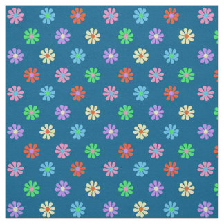 "1960's Retro Flower Power 58"" wide Cotton Twill Fabric"