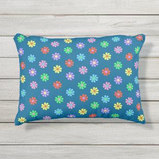 1960's Retro Flower Power Outdoor Pillow