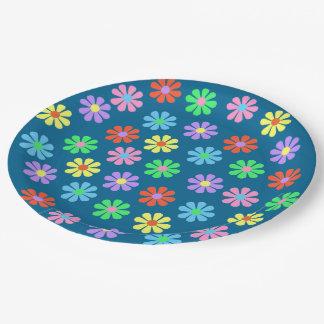 1960's Retro Flower Power Paper Plate
