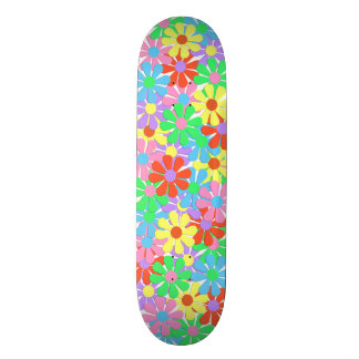1960's Retro Flower Power Skateboard