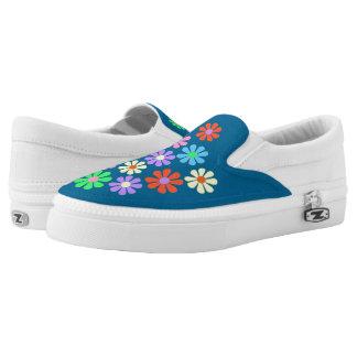 1960's Retro Flower Power Slip-On Sneakers