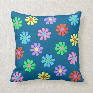 1960's Retro Flower Power Throw Pillow