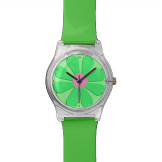 1960's Retro Green Flower Power May28th Watch