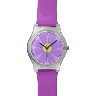 1960's Retro Purple Flower Power May28th Watch