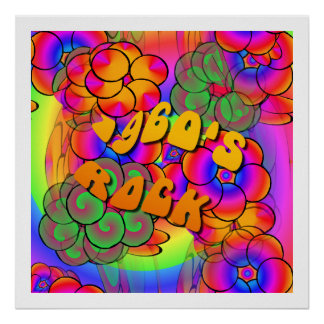1960's Rock Psychedelic Flower Power Poster