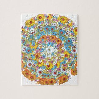 1960s vintage floral flower pattern jigsaw puzzle