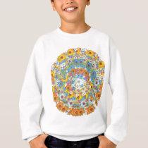 1960s vintage floral flower pattern sweatshirt