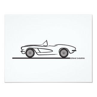 1961 1962 Chevrolet Corvette 4.25x5.5 Paper Invitation Card