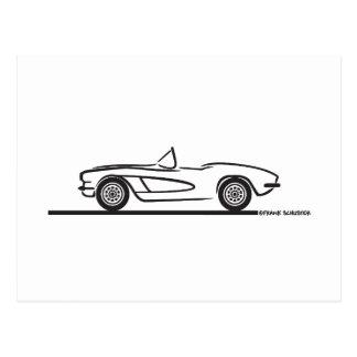 1961 1962 Chevrolet Corvette Postcard