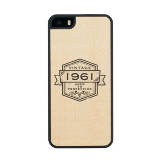 1961 Aged To Perfection iphone 5s -Pick Color Wood Phone Case For iPhone SE/5/5s