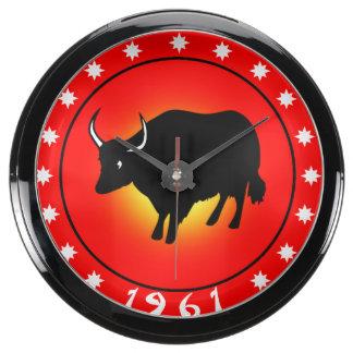 1961 años del buey relojes acuario