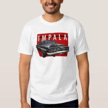 1961 Chevy Impala Bubble Top Rear View Tee Shirt