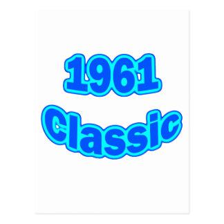 1961 Classic Blue Postcard