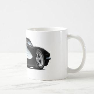 1961 Corvette Black Car Coffee Mug