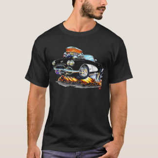 1961 Corvette Black-White Convertible T-Shirt