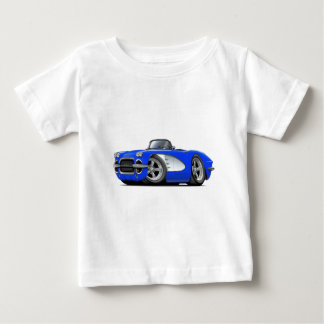 1961 Corvette Blue Convertible Baby T-Shirt