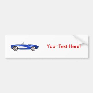 1961 Corvette C1: Blue Finish: Bumper Sticker