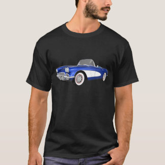 1961 Corvette C1: Blue Finish: T-Shirt