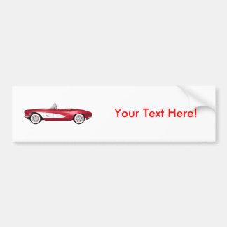 1961 Corvette C1: Candy Apple Finish: Bumper Sticker
