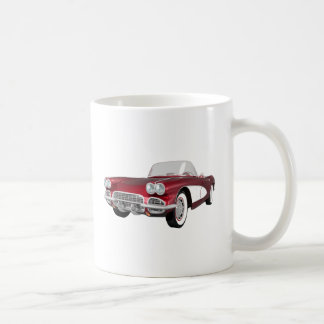 1961 Corvette C1: Candy Apple Finish: Coffee Mug