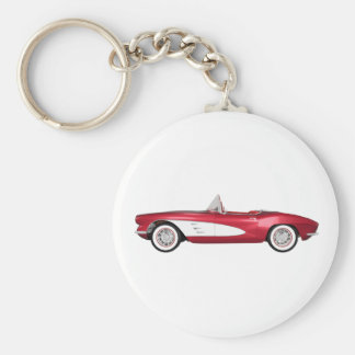 1961 Corvette C1: Candy Apple Finish: Keychains