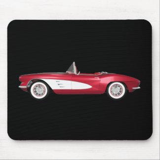 1961 Corvette C1: Candy Apple Finish: Mouse Pad