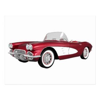 1961 Corvette C1: Candy Apple Finish: Postcard