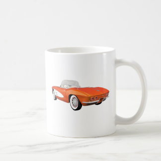 1961 Corvette C1: Orange Finish: Coffee Mug