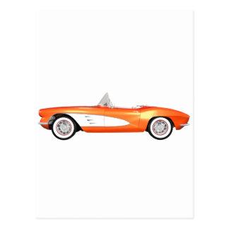 1961 Corvette C1: Orange Finish: Postcard