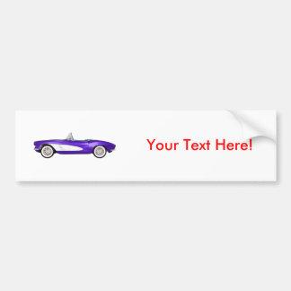 1961 Corvette C1: Purple Finish: Bumper Sticker