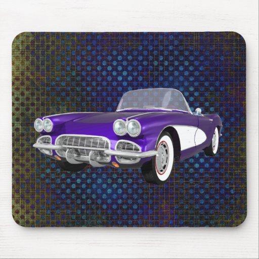 1961 Corvette C1: Purple Finish: Mousepad