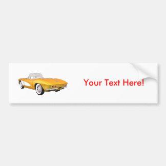1961 Corvette C1: Yellow Finish: Bumper Sticker
