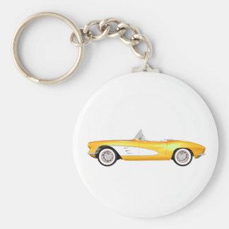 1961 Corvette C1: Yellow Finish: Keychain