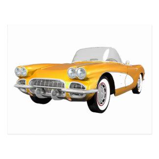 1961 Corvette C1: Yellow Finish: Postcard