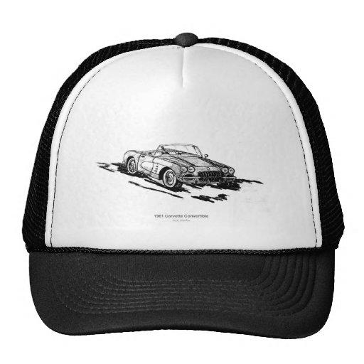 1961 Corvette Convertible Trucker Hats