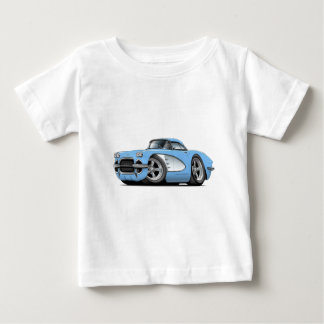 1961 Corvette Lt Blue Car Baby T-Shirt